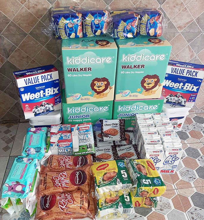 Food rations ready to be delivered to recipients by Being Helping Hands Fiji. Photo.Supplied