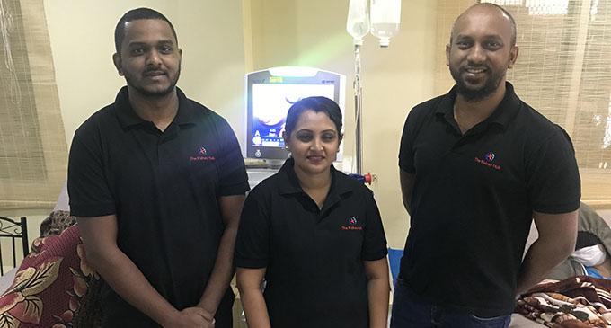 From left: Vishant Kumar, Sarita Goundar and Dr Amrish Krishnan.  Photo: Inoke Rabonu