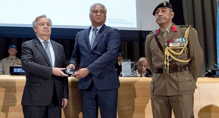 Fijian Peacekeepers Posthumously Awarded With The Dag Hammarskjold Medal