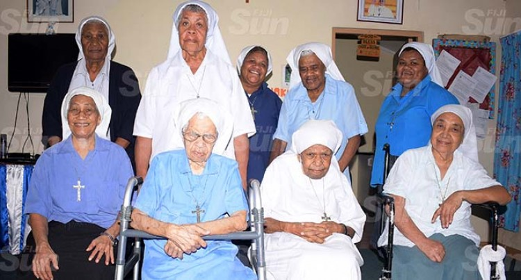 Retired Nuns Pray Over Mothers Every Day