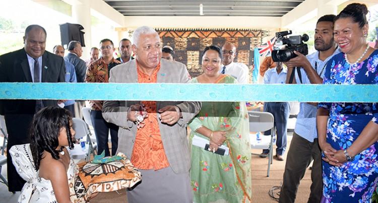 Prime Minister Voreqe Bainimarama Opens Laqere Market
