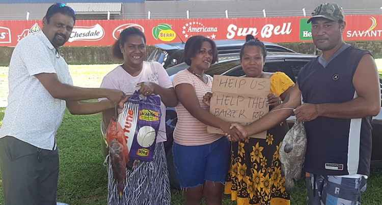 Lautoka Group Barter Fish For Supplies To Help Victims Of Cyclone Harold