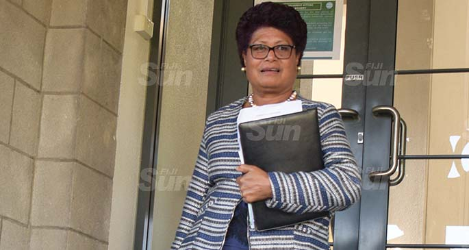 Suspended SODELPA MP, Salote Raddrodro as she vacated opposition office following the sixty days suspension on May 26, 2020. Photo: Ronald Kumar.