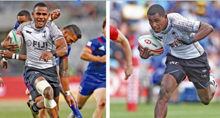 Fiji 7s Stars, Vilimoni Botitu And Aminiasi Tuimaba, Heading To France