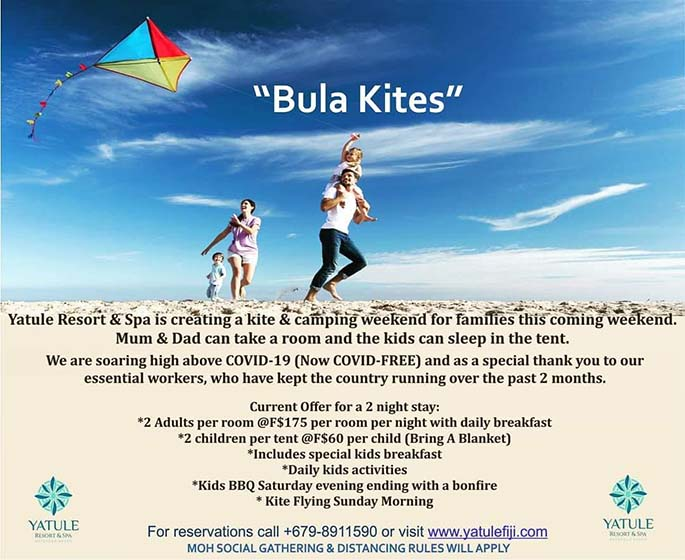 Enjoy Bula Kites at Yatule Resort and Spa.