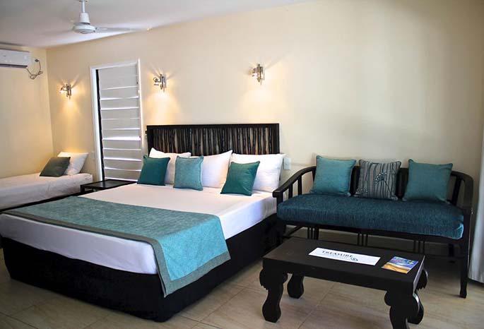 An Oceanview Bure at Nakelo Treasure Island Resort and Spa.