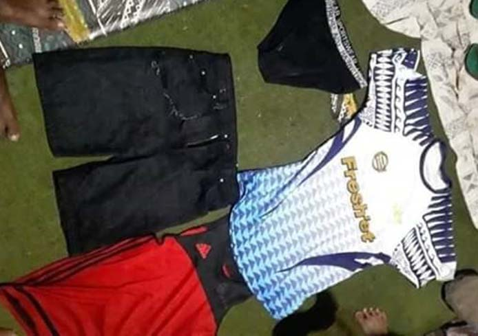 The clothes that villagers claim Eliki Yaco was wearing when last seen.