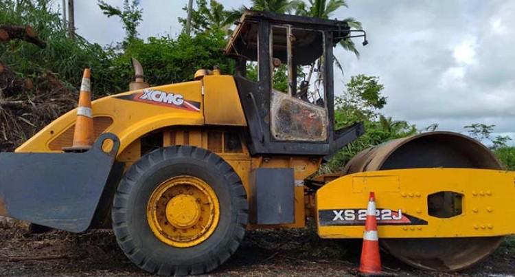 Arson Attack On Fiji Roads Authority Contractor Equipment