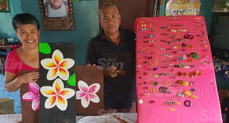 Handicrafts Keep Couple Going Strong
