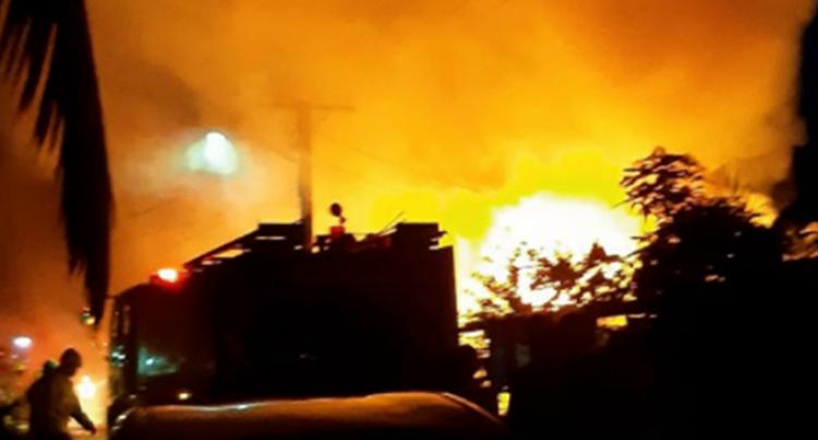 Man, Children Escape Fire In Nadawa