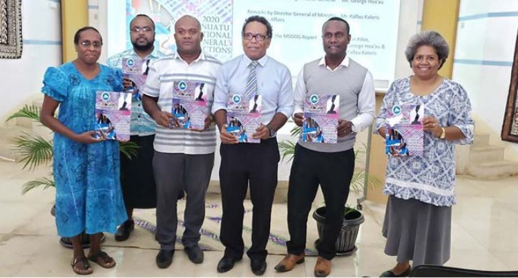 MSG Secretariat Formally Hands Over Election Report To Vanuatu Government