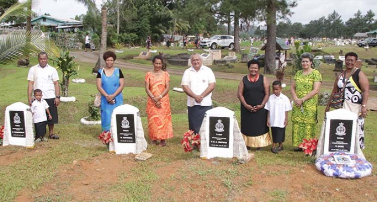 Families Of Five Fallen Correction Officers Unveil New Headstones