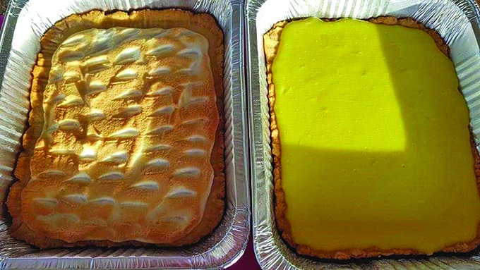 Pastor Tabuya's lemon meringue pie with other varieties.
