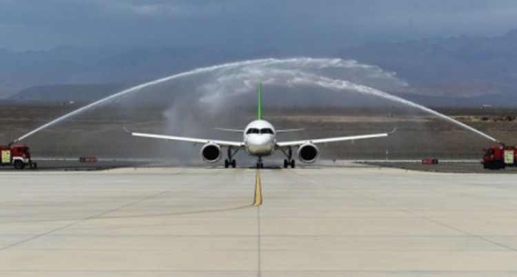 China's C919 Jet Conducts High-Temperature Test Flights In Xinjiang