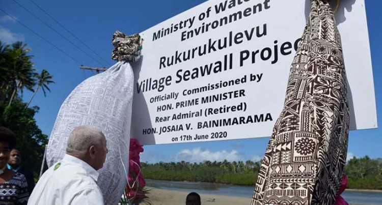 Seawall Secures Rukurukulevu Village In Nadroga
