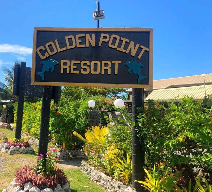 Golden Point Resort is located on the Kings Road near Rakiraki.
