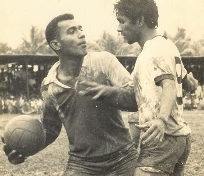 Krishna Chetty (right) playing for Suva.