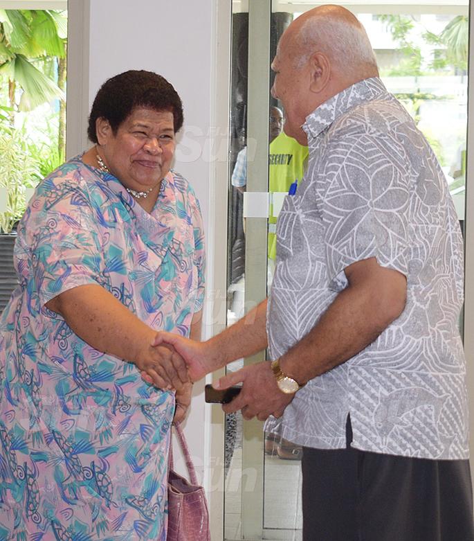 SODELPA members (left) Losena Salabula and Viliame Gavoka during their management board meeting at Holiday Inn on June 18, 2020. Photo: Ronald Kumar.