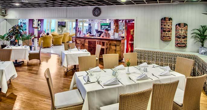 Tanoa Rakiraki Hotel restaurant and bar area.