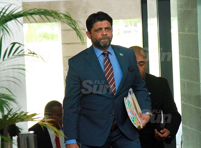 Attorney-General and Minister for Economy, Civil Service and Communications, Aiyaz Sayed-Khaiyum on July 30, 2020. Photo: Kelera Sovasiga