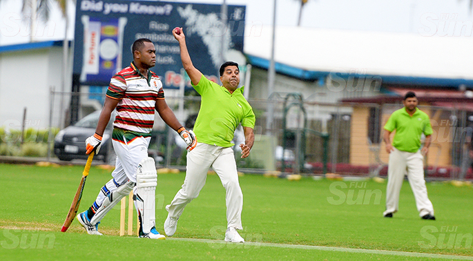 Fiji Cricket T-10 Bula Competition action between BSP and Army Cricket side at Albert Park on July 11, 2020. Photo: Ronald Kumar.