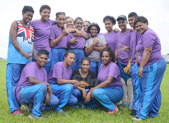 Nadi women cricket side at Bedesi Park in Suva on July 11, 2020. Photo: Ronald Kumar.