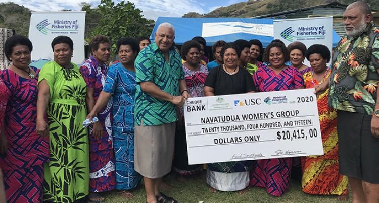 Navatudua Women Score $20K Oyster Harvest