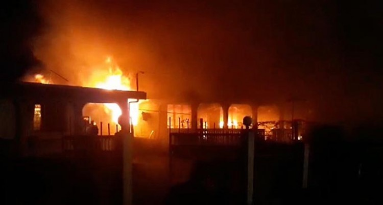 Businessman Fortunate His Life Was Spared After Fire Destroys Nakasi Home
