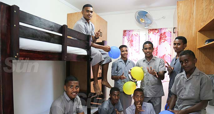 Levuka Public School hostel boys inside their new dormitory on  July 14, 2020. Photo: Kelera Sovasiga