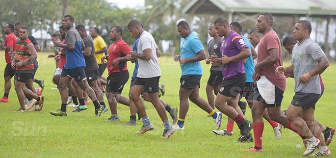 Namosi Rugby side during training at Grammar School ground on July 7, 2020. Photo: Ronald Kumar.