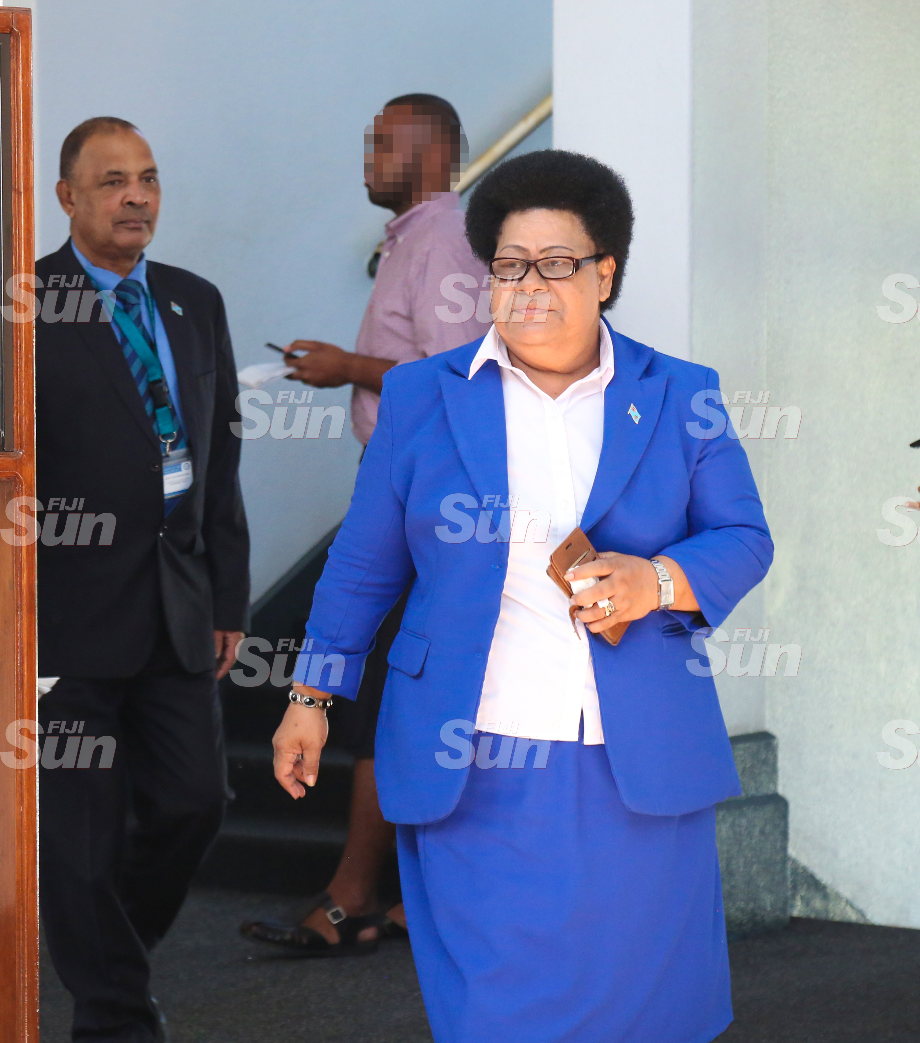 Assistant Minister for iTaukei Affairs, Adi Selaimaitoga outside of Parliament on July 28, 2020. Photo: Kelera Sovasiga