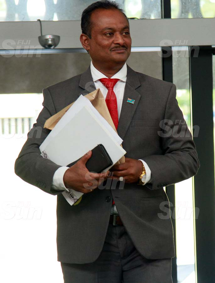 Assistant Minister for Rural and Maritime Development and Disaster Management, Vijay Nath on July 31, 2020. Photo: Kelera Sovasiga