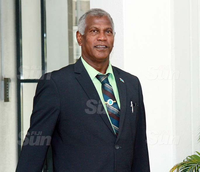 Assistant Minister for Sugar Industry, George Vegnathan on July 30, 2020. Photo: Kelera Sovasiga