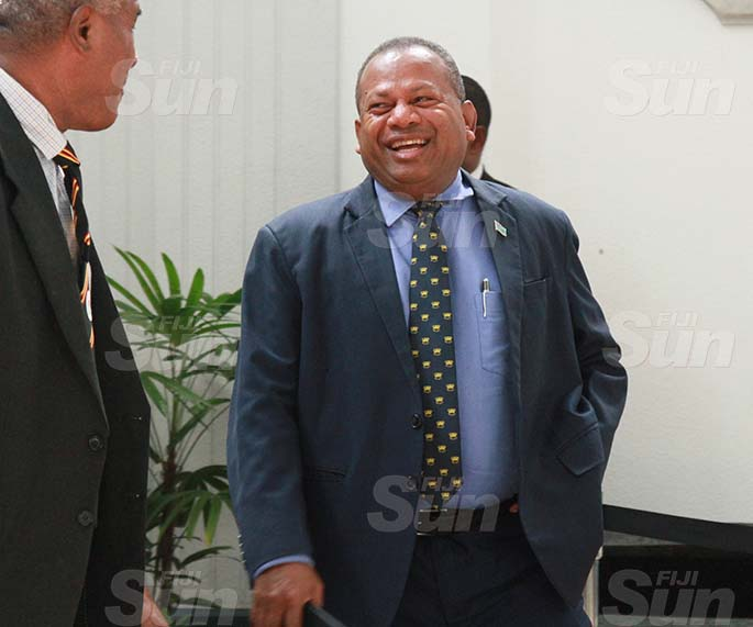 Minister for Rural, Maritime Development and Disaster Management and Minister for Defence, National Security and Policing, Inia Seruiratu. Photo: Kelera Sovasiga