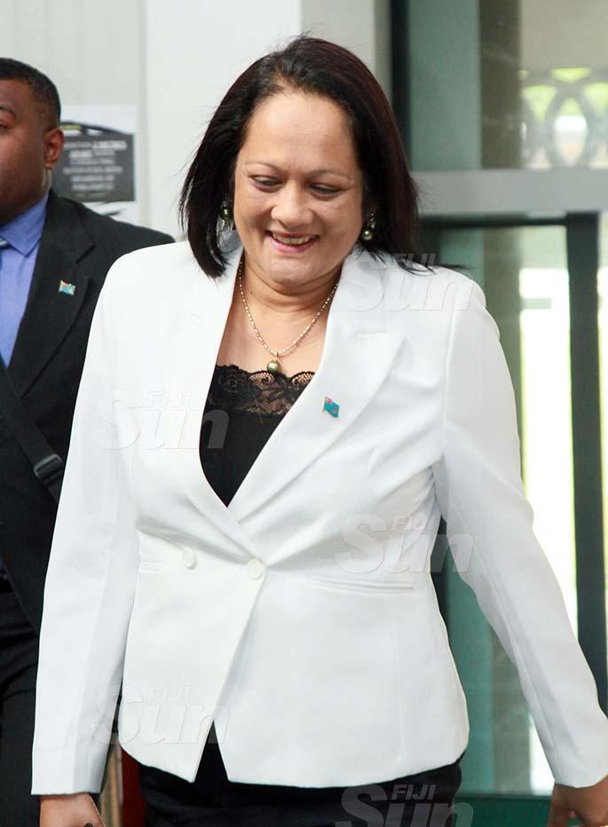 Minister for Education, Heritage and Arts, Rosy Akbar on July 30, 2020. Photo: Kelera Sovasiga