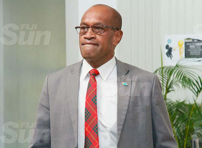 Minister for Infrastructure and Meteorological Services and Minister for Lands and Mineral Resources, Jone Usamate on July 30, 2020. Photo: Kelera Sovasiga