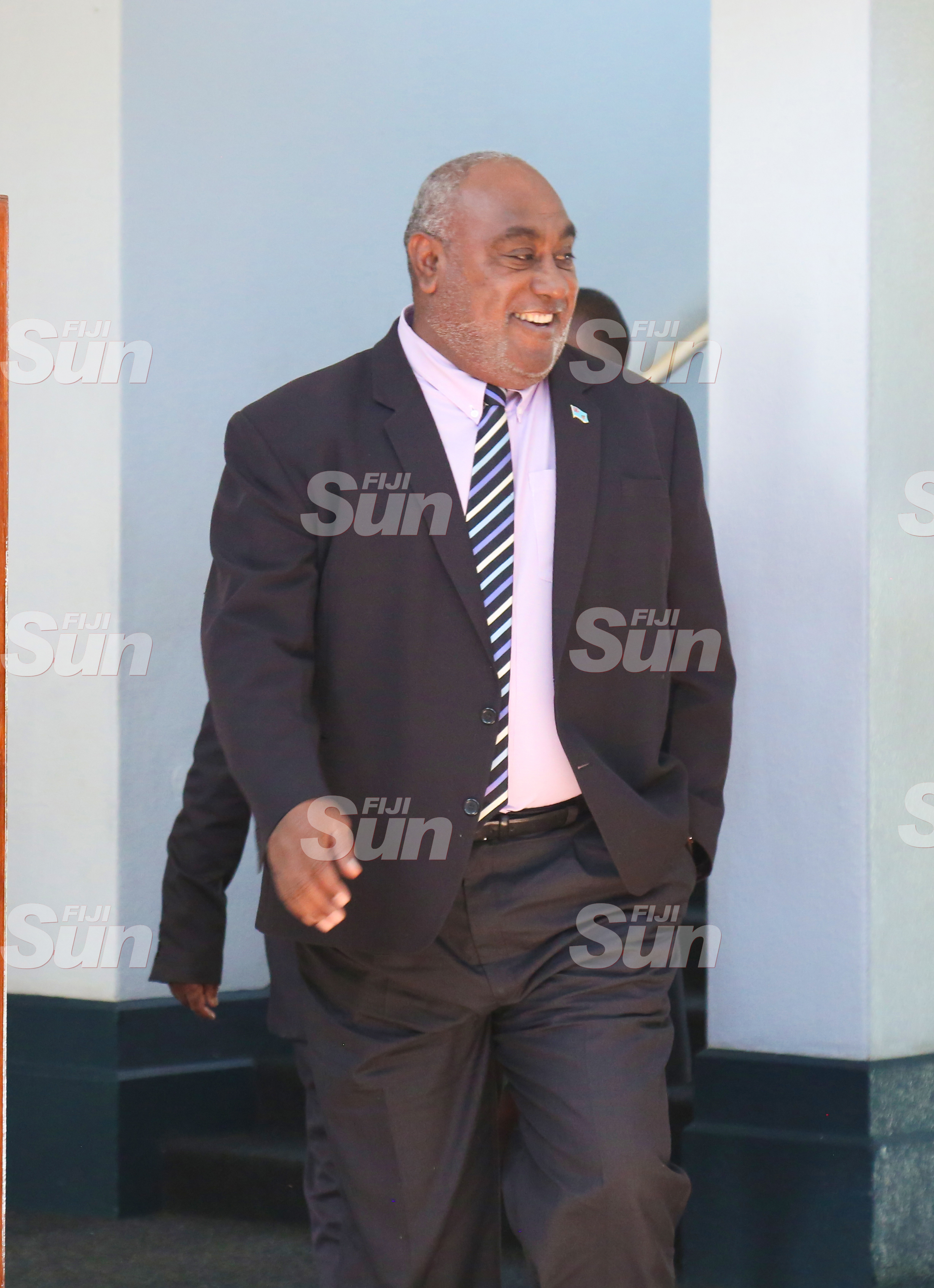 Minister for Fisheries, Semi Koroilavesau outside of Parliament on July 28, 2020. Photo: Kelera Sovasiga