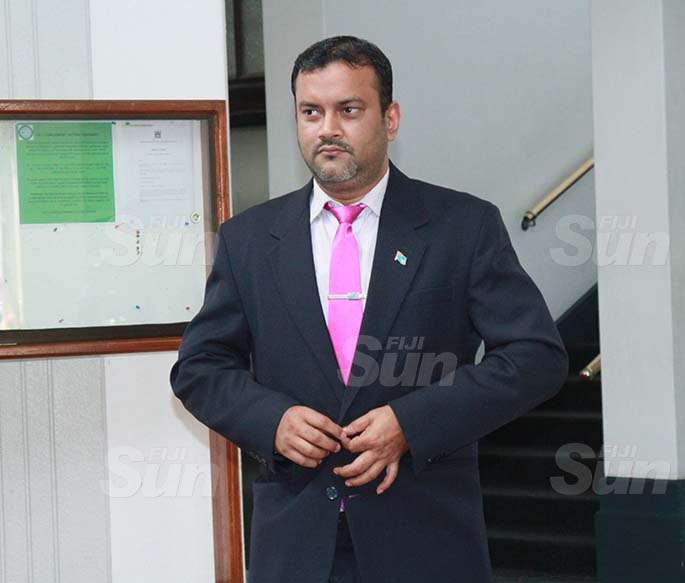 Assistant Minister for Employment, Productivity and Industrial Relations, Alvick Maharaj on July 30, 2020. Photo: Kelera Sovasiga