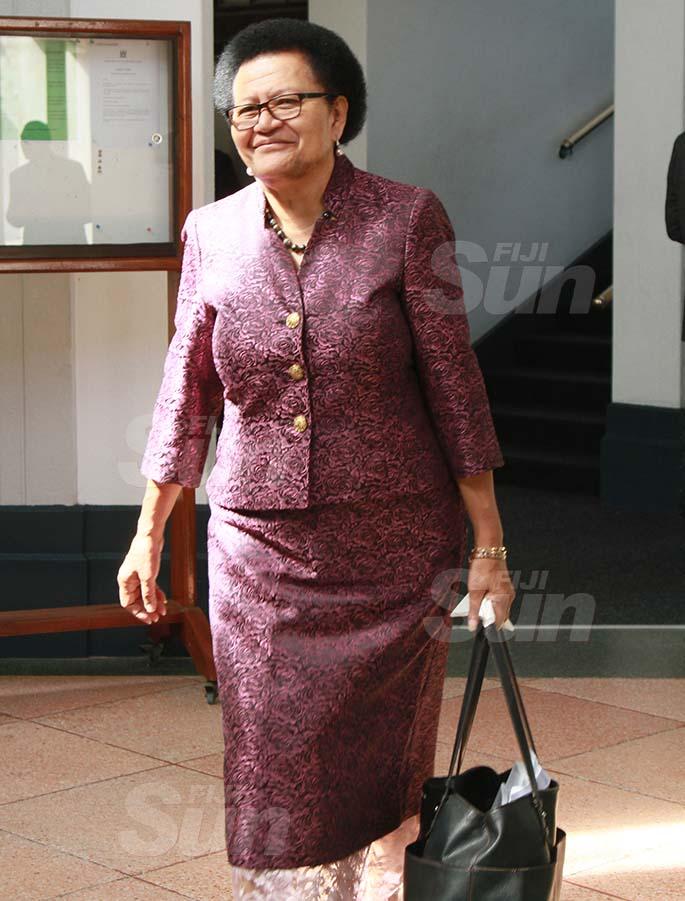 SODELPA Opposition member, Adi Litia Qionibaravi on July 30, 2020. Photo: Kelera Sovasiga
