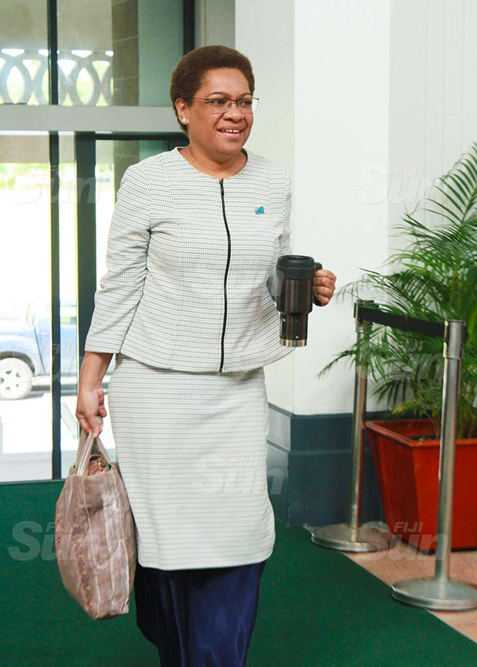 Minister for Women, Children and Poverty Alleviation, Mereseini Vuniwaqa on July 30, 2020. Photo: Kelera Sovasiga