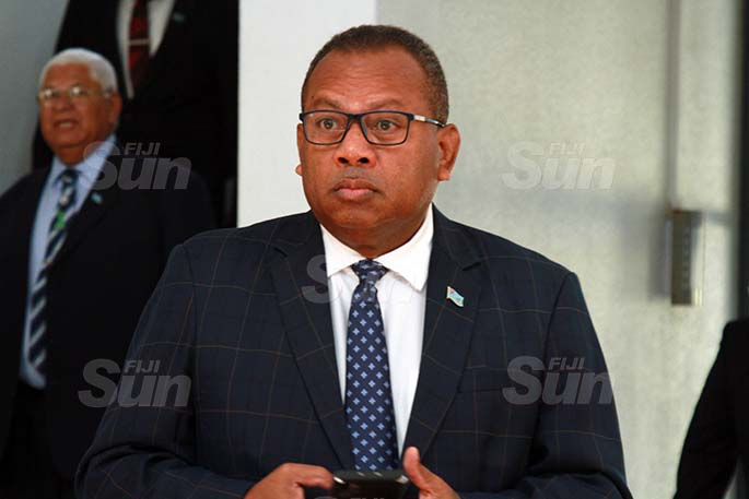 Minister for Rural, Maritime Development and Disaster Management and Minister for Defence, National Security and Policing, Inia Seruiratu on July 31, 2020. Photo: Kelera Sovasiga