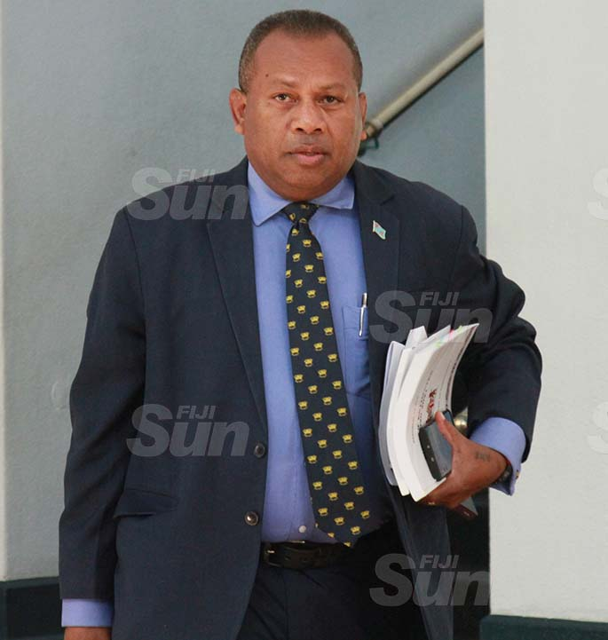 Minister for Rural, Maritime Development and Disaster Management and Minister for Defence, National Security and Policing, Inia Seruiratu outside of Parliament on July 29, 2020. Photo: Kelera Sovasiga