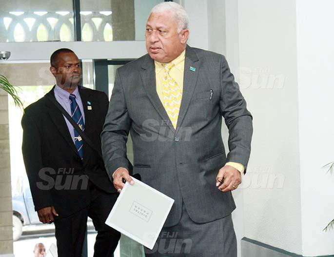 Prime Minister Voreqe Bainimarama on July 30, 2020. Photo: Kelera Sovasiga