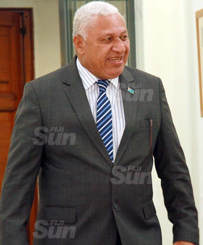 Prime Minister, Voreqe Bainimarama on July 31, 2020. Photo: Kelera Sovasiga