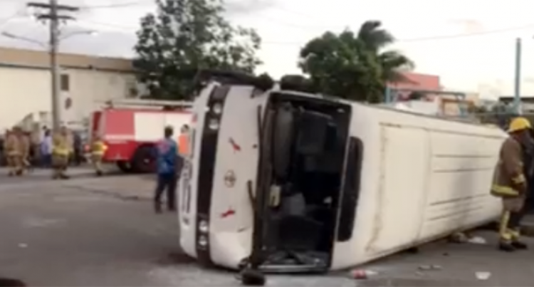 Three Admitted In Labasa Hospital Following An Accident Between A Locomotive And Bus