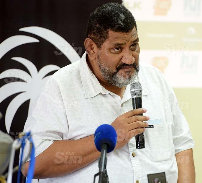 Fiji Rugby Union CEO John O'Connor during the Skipper Cup launching on July 16, 2020. Photo: Ronald Kumar.
