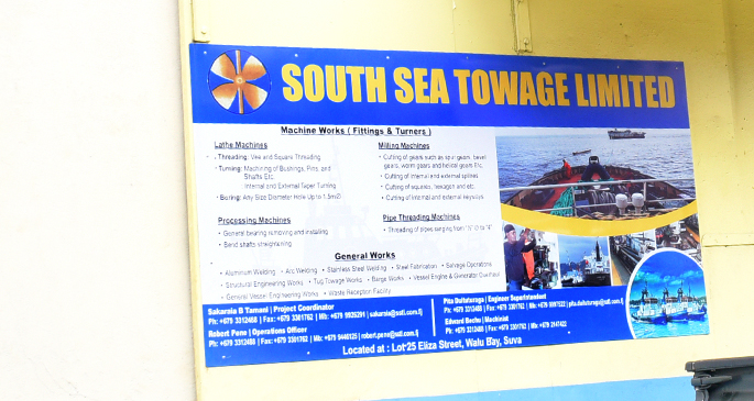 South Sea Towage Limited workshop and office at Walubay  in Suva . Photo: Ronald Kumar.
