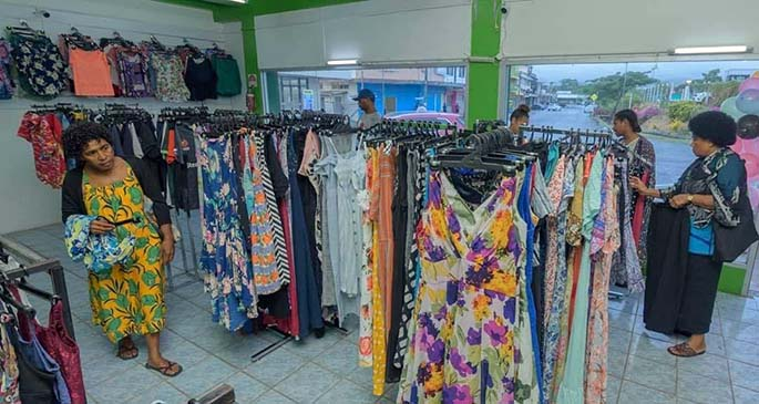 Inside Ravinesh Lal's clothing store, Brands on Trends.