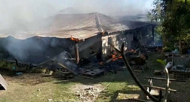 Retiree's Home Completely Destroyed In A Fire In Tuvu, Ba