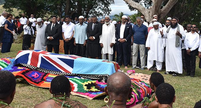 Mourners at the funeral of the late Ratu Apisai Tora at his village of Natalau, Nadi on August 14, 2020. Photo: Mereleki Nai